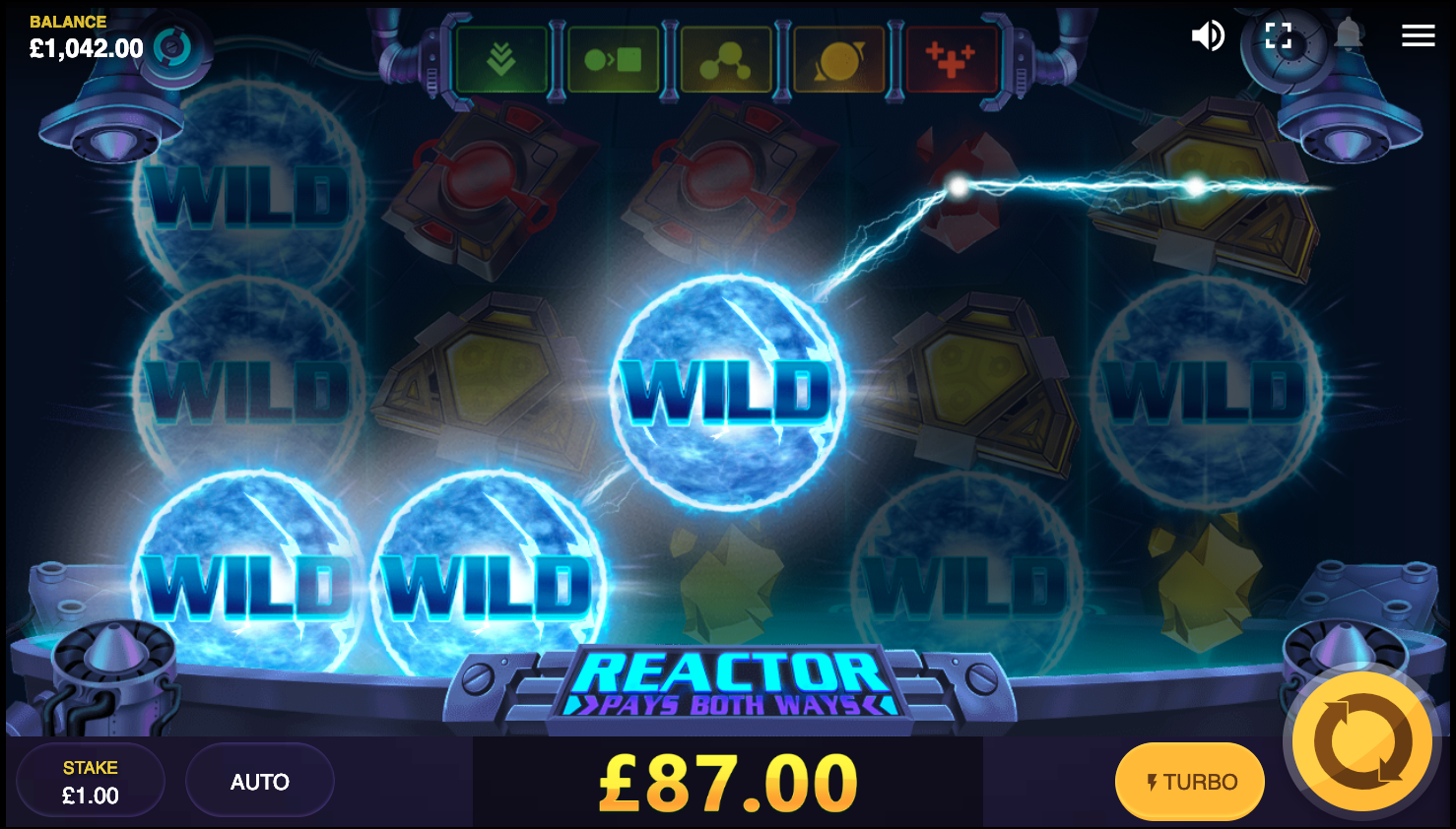 Reactor slot - 3 bonus features activated