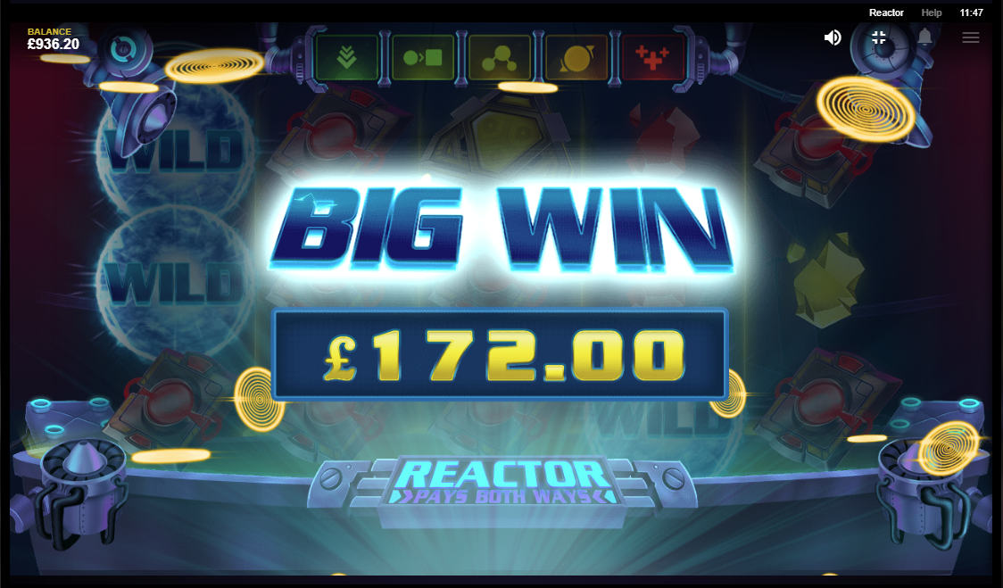 Reactor slot big win