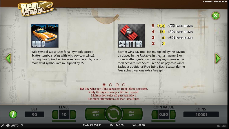 Reel Steal Wild & Scatter symbol rules