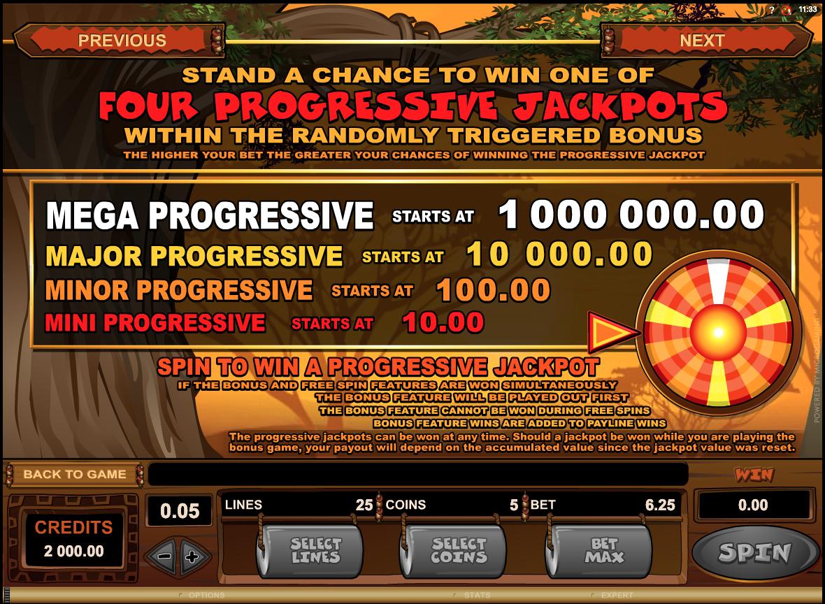 Mega Moolah progressive jackpots rules