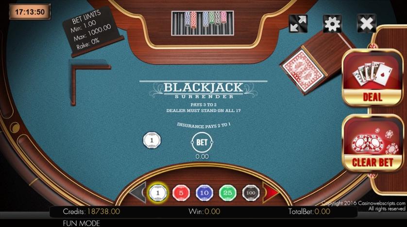 Blackjack 21 Surrender.jpg