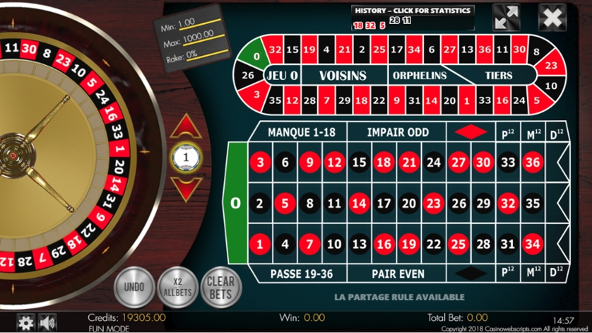 Spiele American Roulette 2D Advanced - Video Slots Online