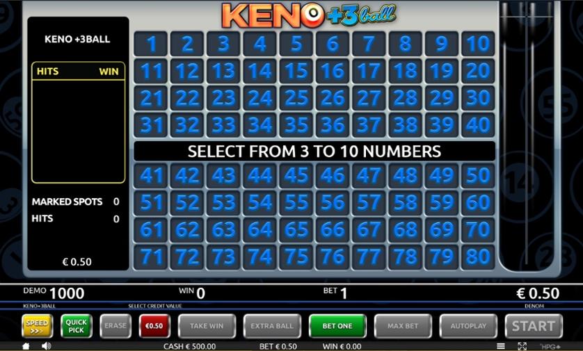 Play Free Keno 3ball Game