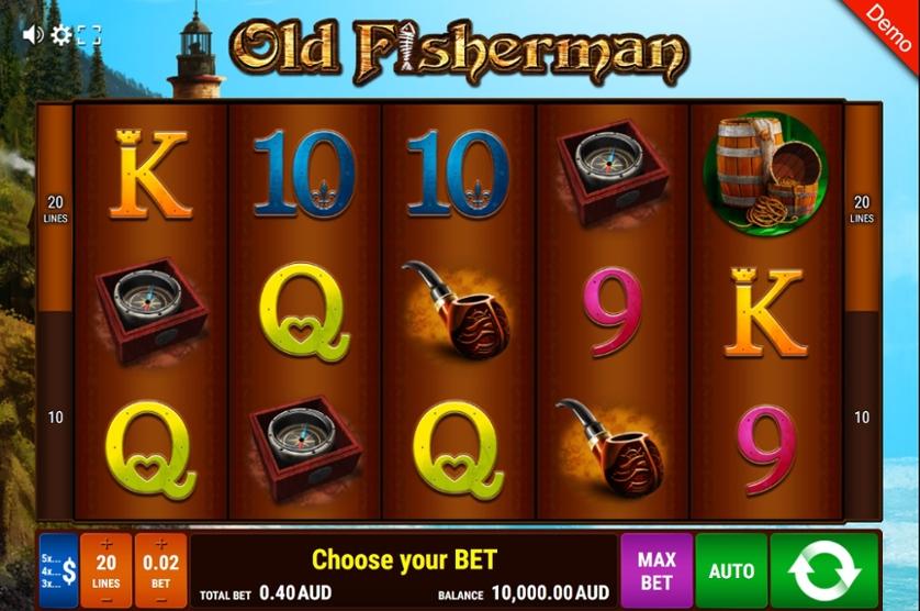 Spielen Sie Old Fisherman kostenlos im Demo Mode von Gamomat
