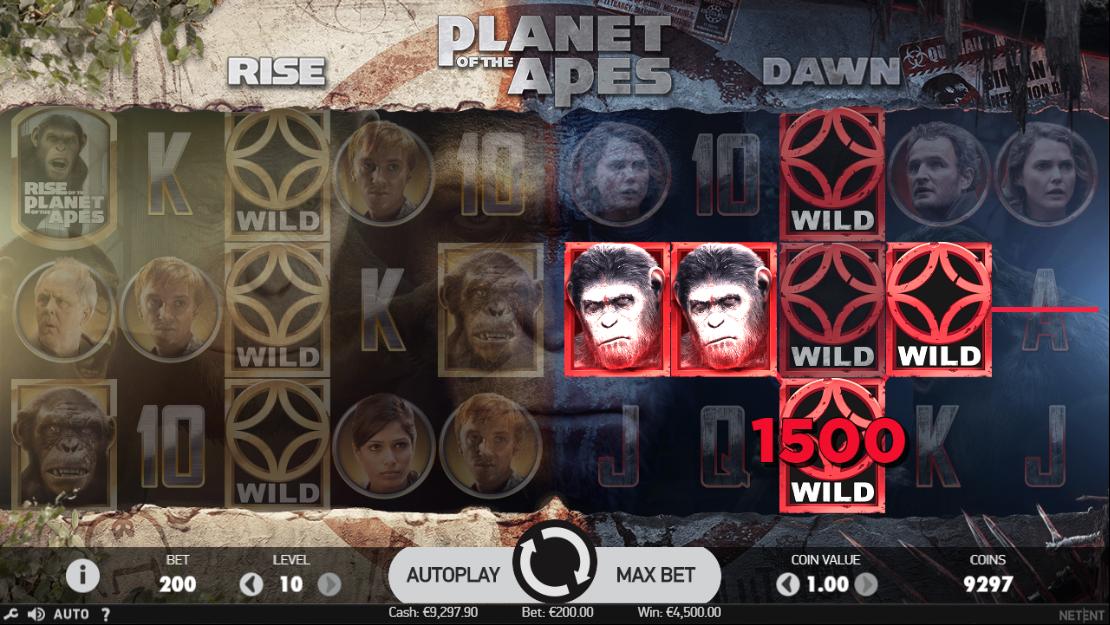 Espelhamento de símbolos Wild no Planet of the Apes