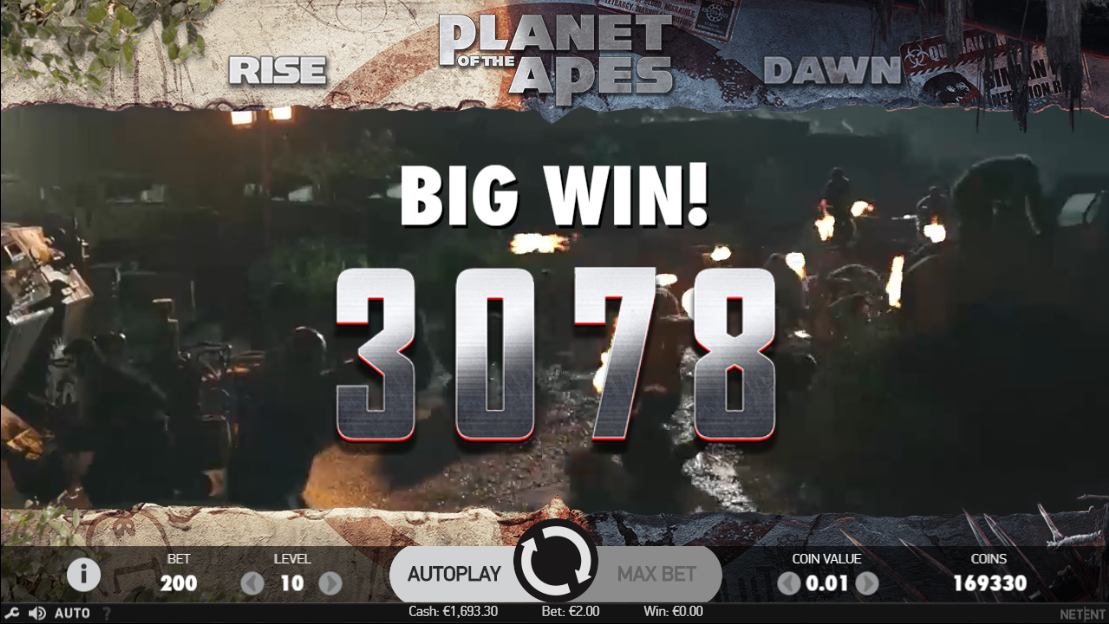 Planet of the Apes slot big win