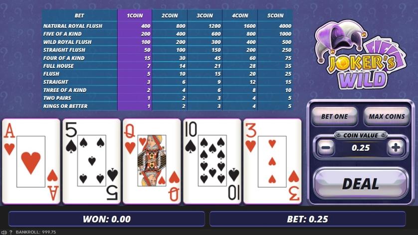 Free Joker Wild Poker