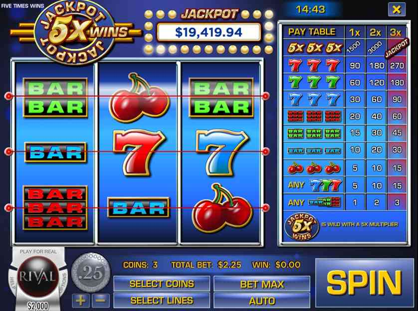 Play the 5x Play Slots Here with No Download Required