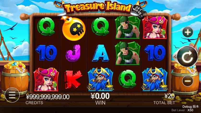 Spielen Sie Treasure Island kostenlos im Demo Mode von Quickspin