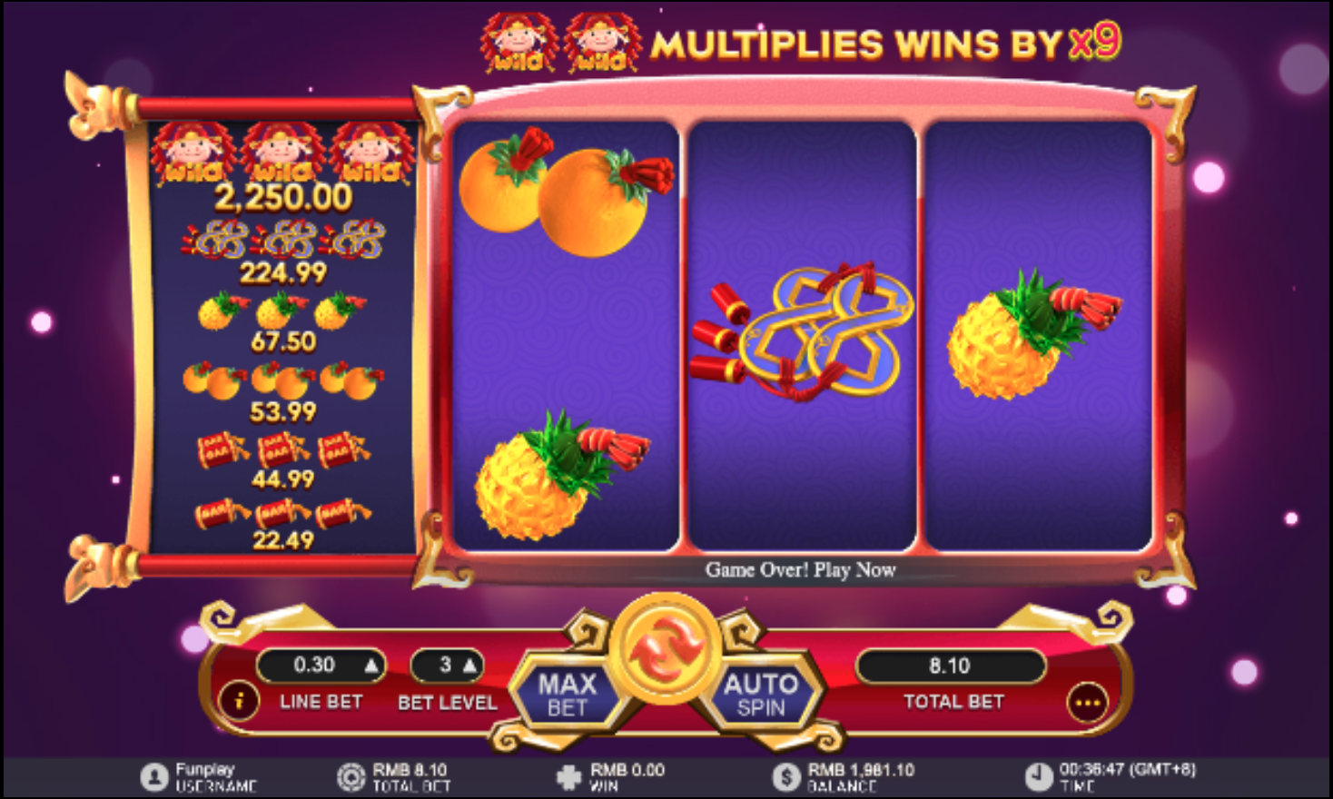 Fa Fa Zhu simple slot machine