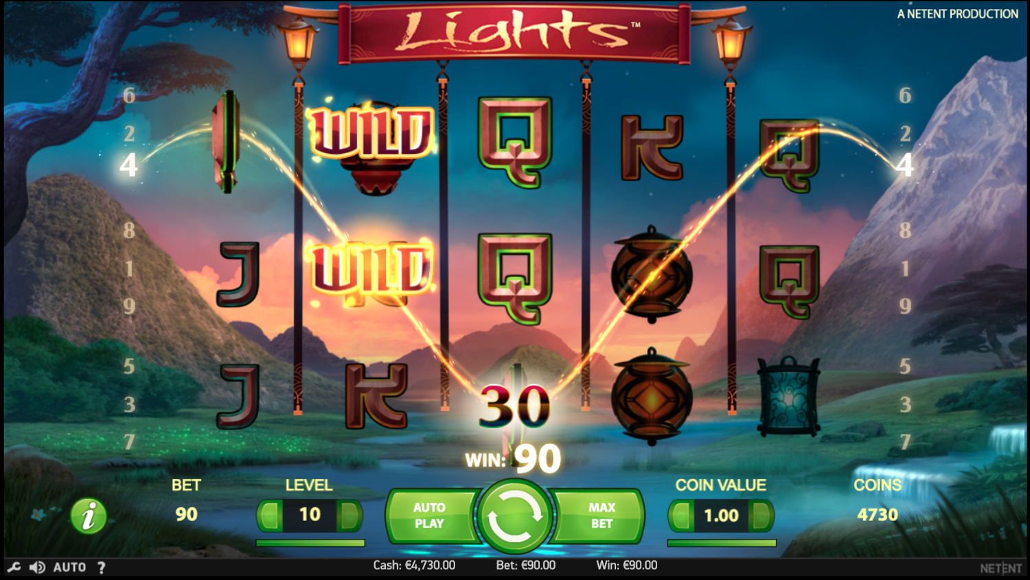 Lights slot win
