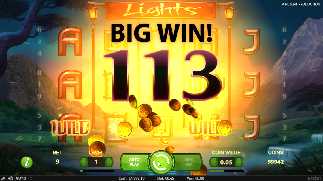 Lights slot big win