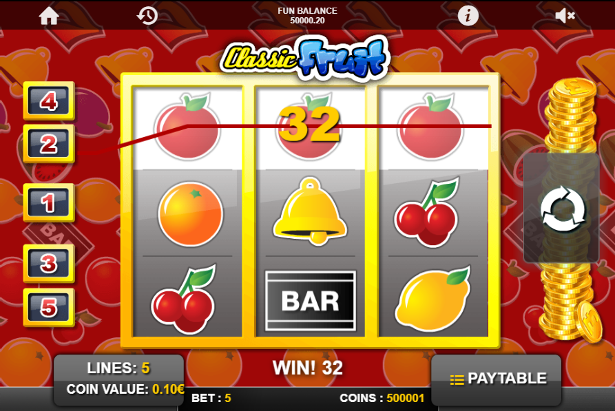Classic Fruit slot win