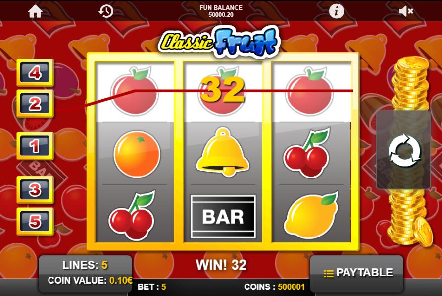 Classic Fruit slot win