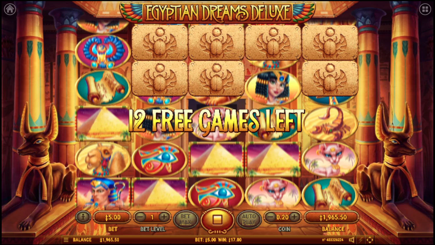Egyptian Dreams Deluxe & 4 Scatter symbols hit