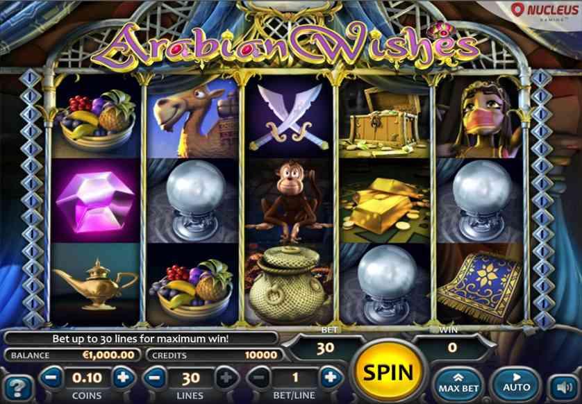 Spielen Sie Arabian Wishes kostenlos im Demo Mode von Nucleus Gaming