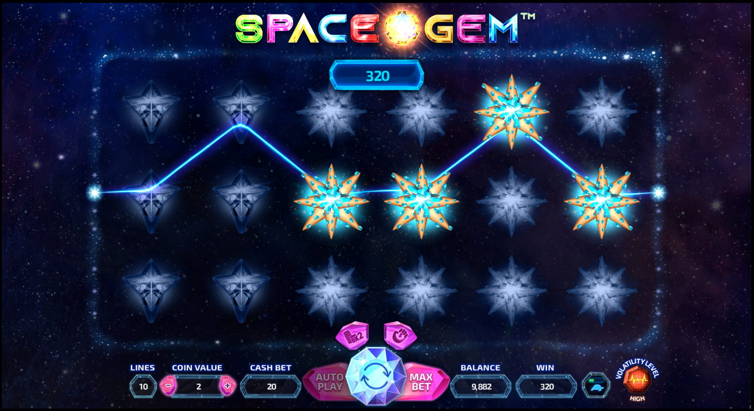 Space Gem right-to-left win