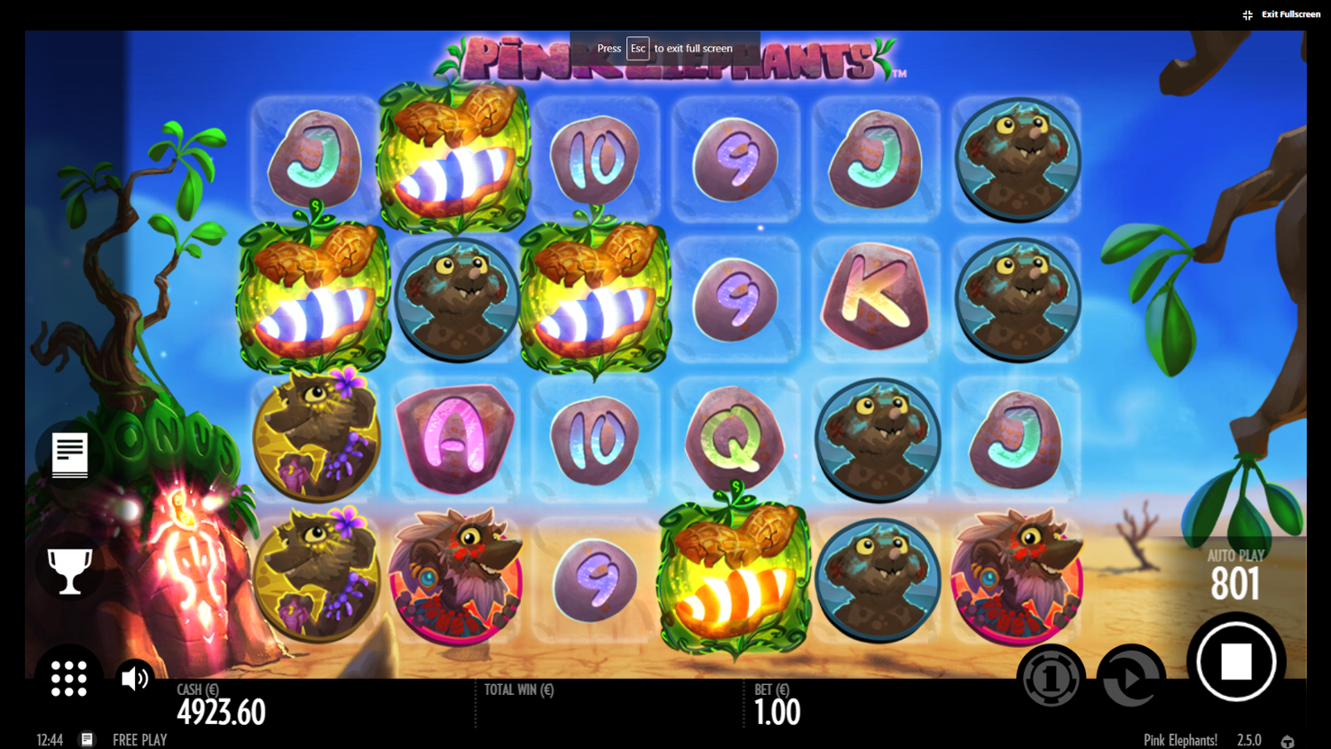 Pink Elephants slot mystery scatters