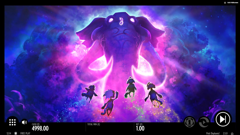 Pink Elephants bonus game animation