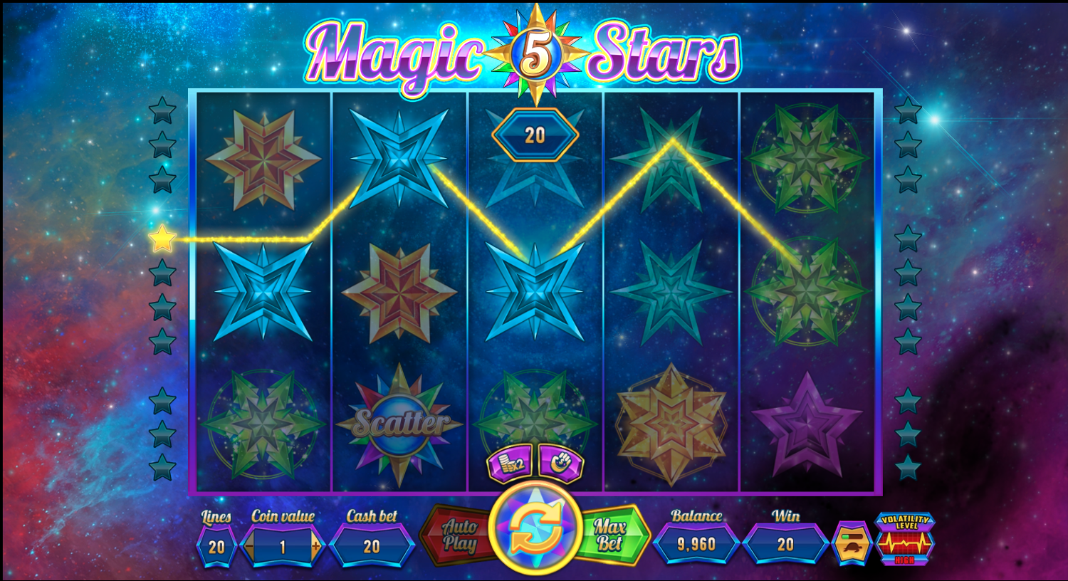 Magic Stars 5 win