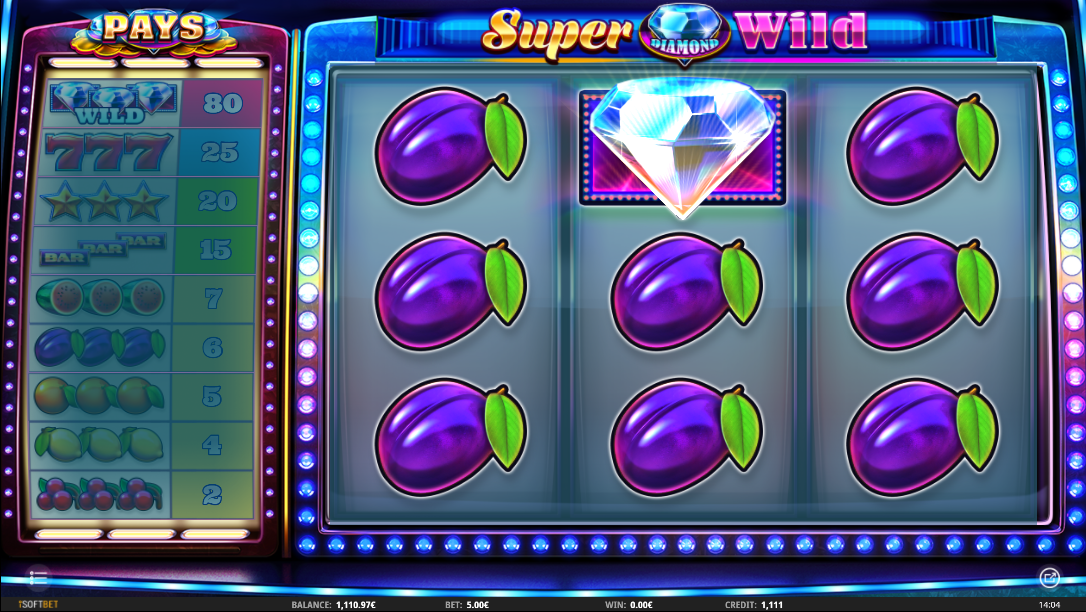 Super Diamond Wild full screen symbol hit