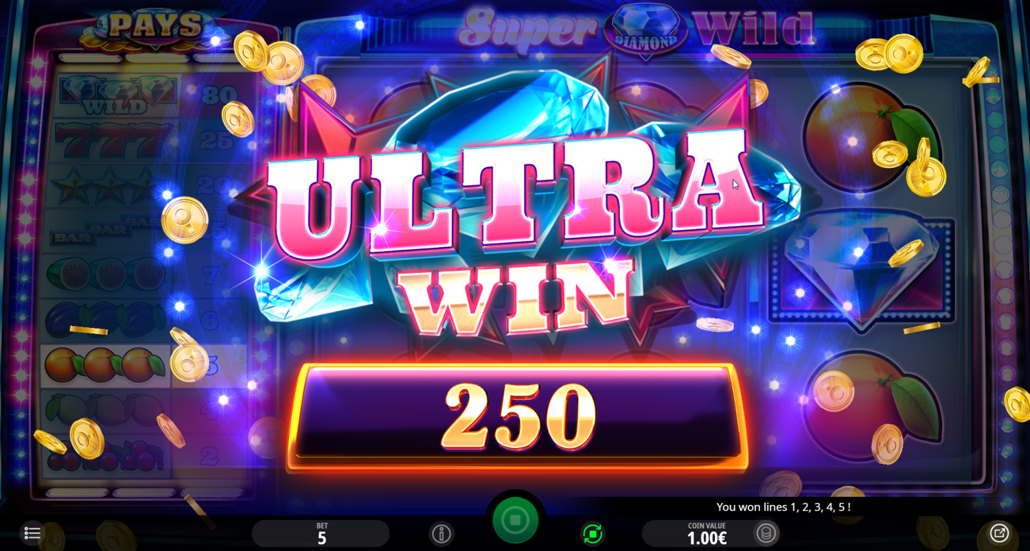 Super Diamond Wild Ultra win