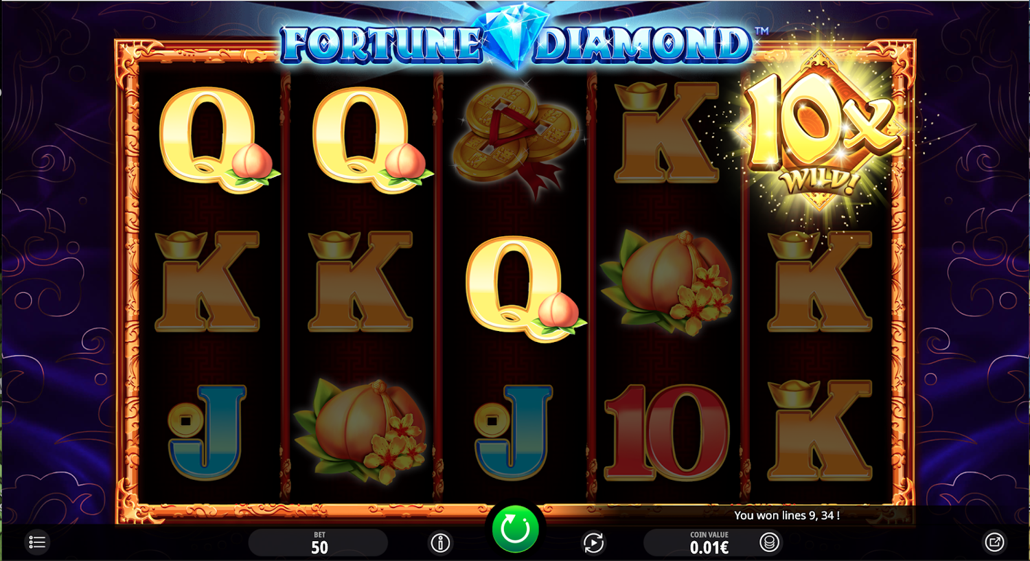 Fortune Diamond highest multiplier win