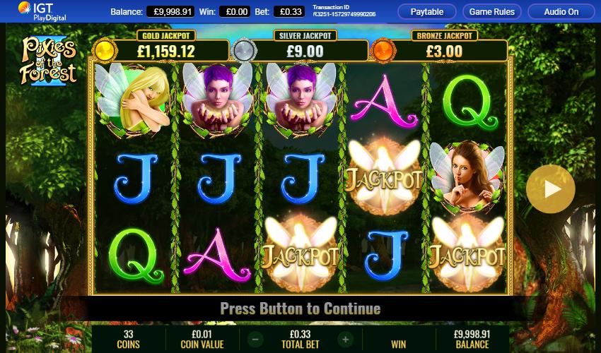 3 Jackpot symbols hit