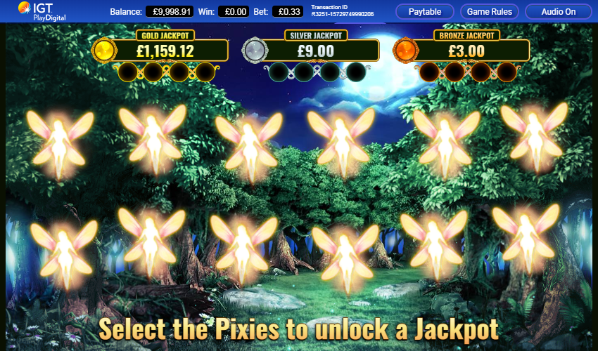 Pixies of the Forest II - Jackpot game