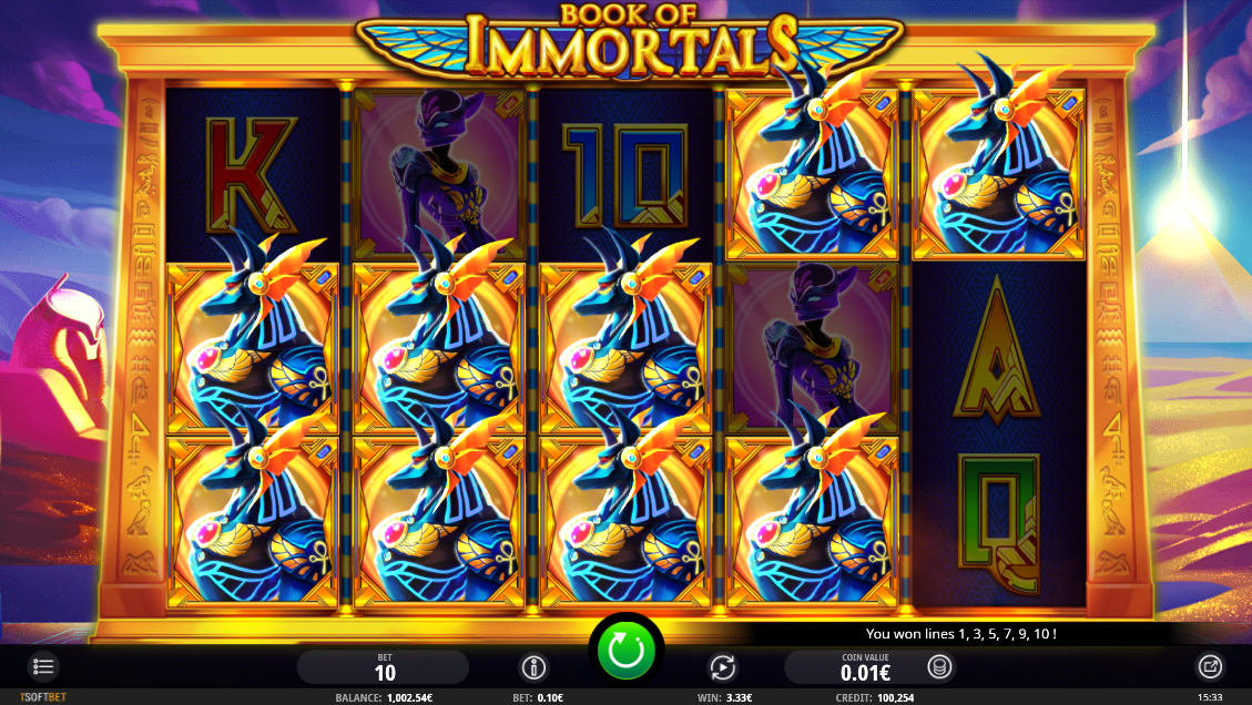 Book of Immortals base game mega win