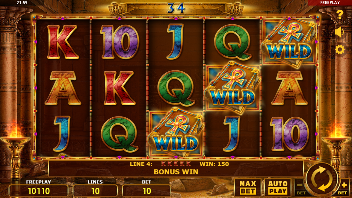 Book of Lords free spins & 5 of a kind win