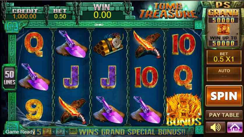 Play Treasures Of Tombs Online With No Registration Required!
