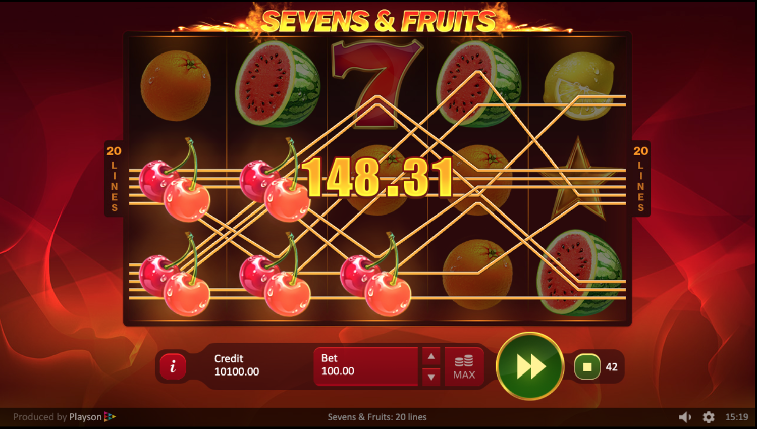 Sevens & Fruits win